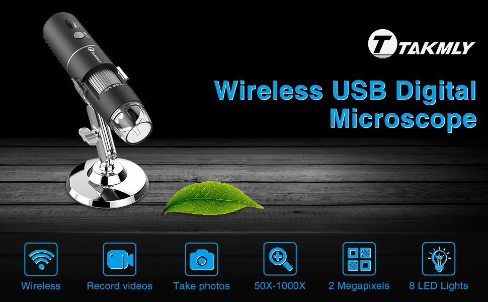 T Takmly wireless digital microscope usb camera