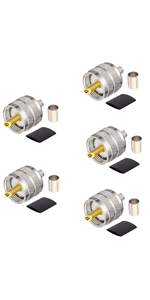 UHF Crimp Connector-5PCS