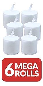 dry refill rolls 6 mega rolls
