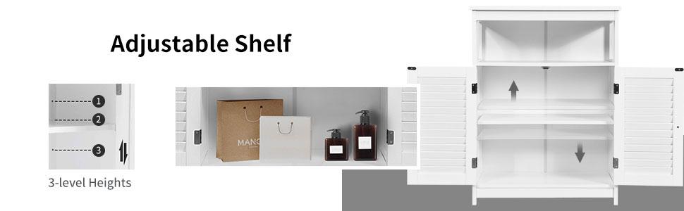 floor cabinet with adjustable shelf