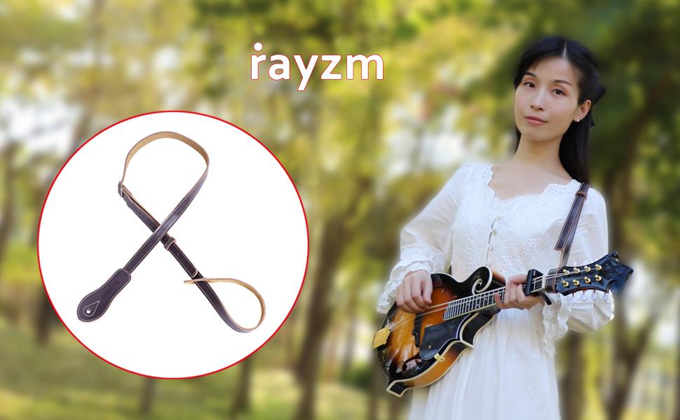 Rayzm leather strap for mandolin and ukulele