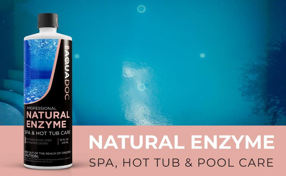 Spa enzyme cleaner for hot tub. Natural enzyme clarifier chemical. Hot tub enzyme chemical.