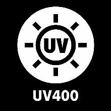 100% UV400 Polycarbonate
