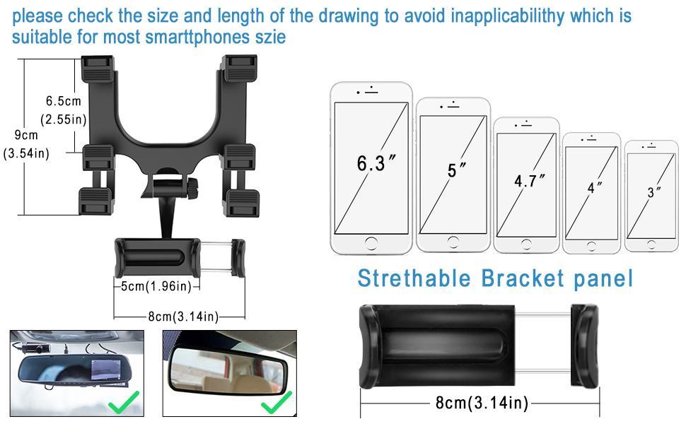 Universal Car Phone Holder for All Smart Phones