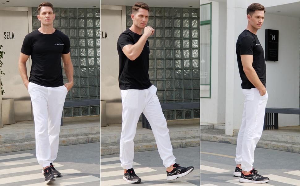Cotton linen pants for men