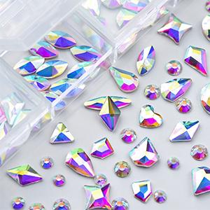 120Pcs Multi Shapes Glass Crystal