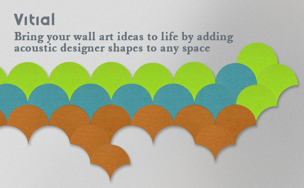 Vitial decorative acoustic panels can bring your wall art ideas to life
