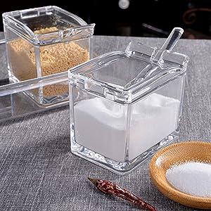 Condiment Caddy Pantry Organizer - 4 Compartment Spice Jars Kitchen Storage