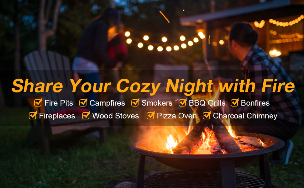 Share your cozy night with Versatile Fire Starters