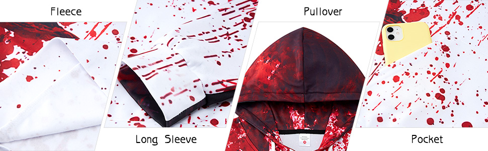 Detail of the hoodie