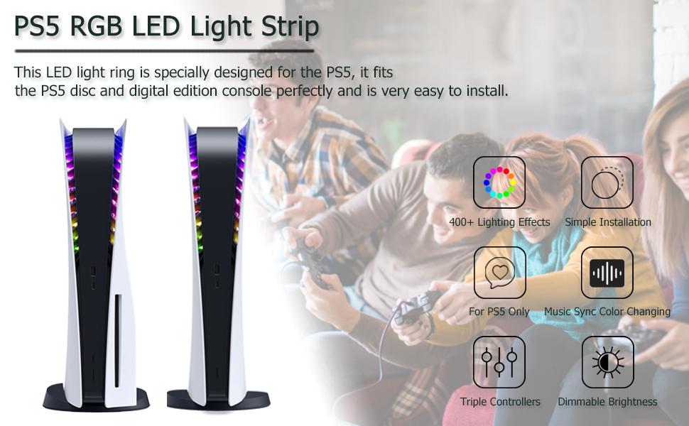 PS5 led light RGB light strip