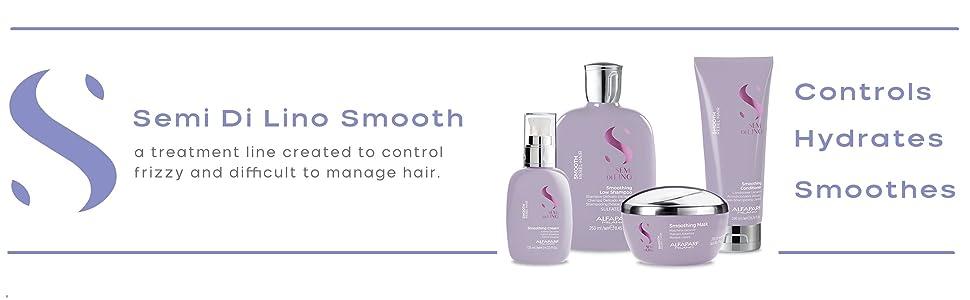 Alfaparf Milano Semi Di Lino Smooth shampoo conditioner mask oil cream smoothing straightening
