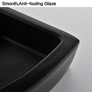 matte black bathroom corner sink