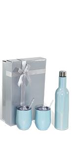 25 oz wine bottle and tumbler gift set