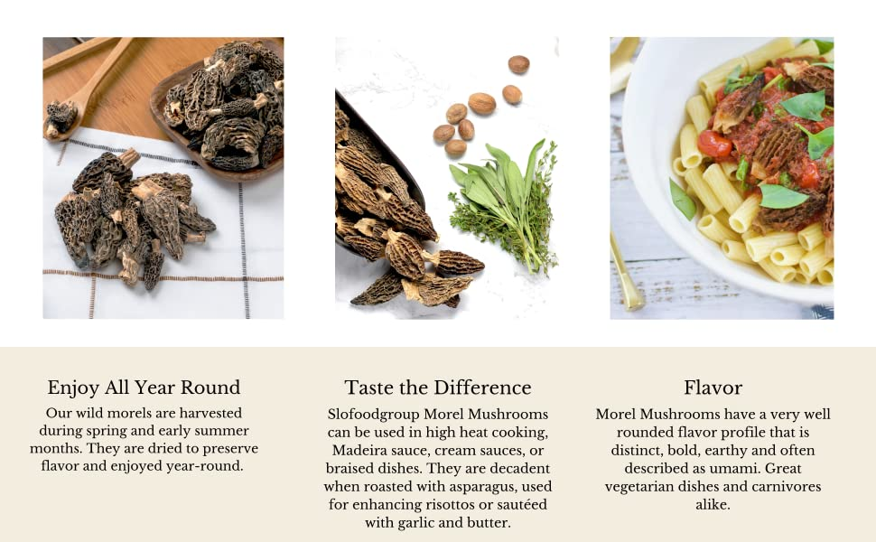 Dried morel mushrooms can be enjoyed all year round