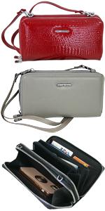 Geldbörse und Handtasche in Einem, mit Smartphone-Fach