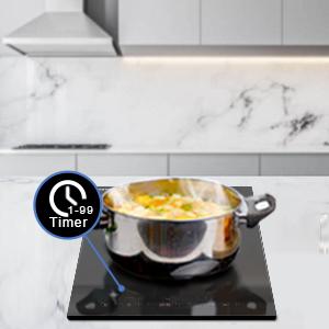 1-99 timer cooktop