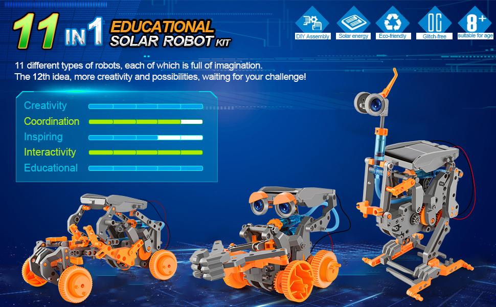 Build a solar robot toy!