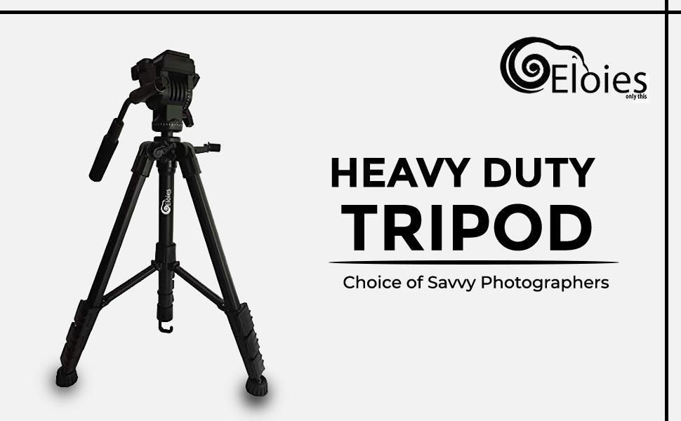 EL971 Professional Series Heavy Duty Tripod | Three Way Heavy PanFluidHead | Aluminium Made SPN-FOR1