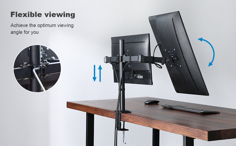 adjustable monitor stand arm for dual monitors