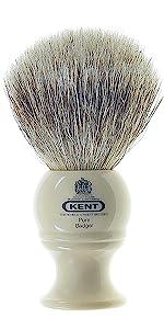 KENT BK2 Pure Badger Bristle Shaving Brush
