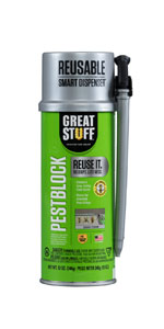 Keep out unwanted bugs and pests from getting inside your home with the pestblock foam sealant.