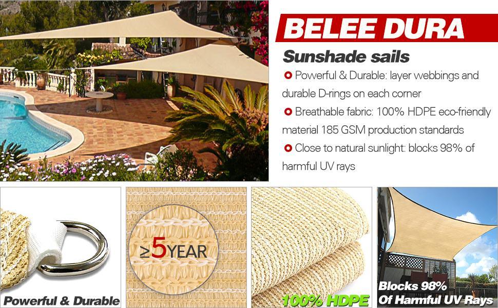 BELLE DURA sun shade sail