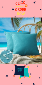 teal light blue outdoor pillow covers for patio