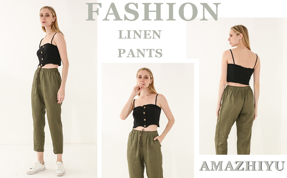 Amazhiyu Linen Pants