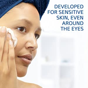 Developed for sensitive skin, even around the eyes
