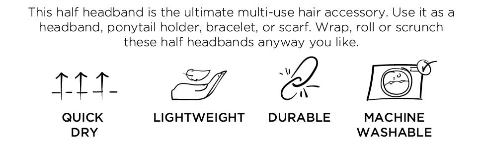 Half Headbands Details