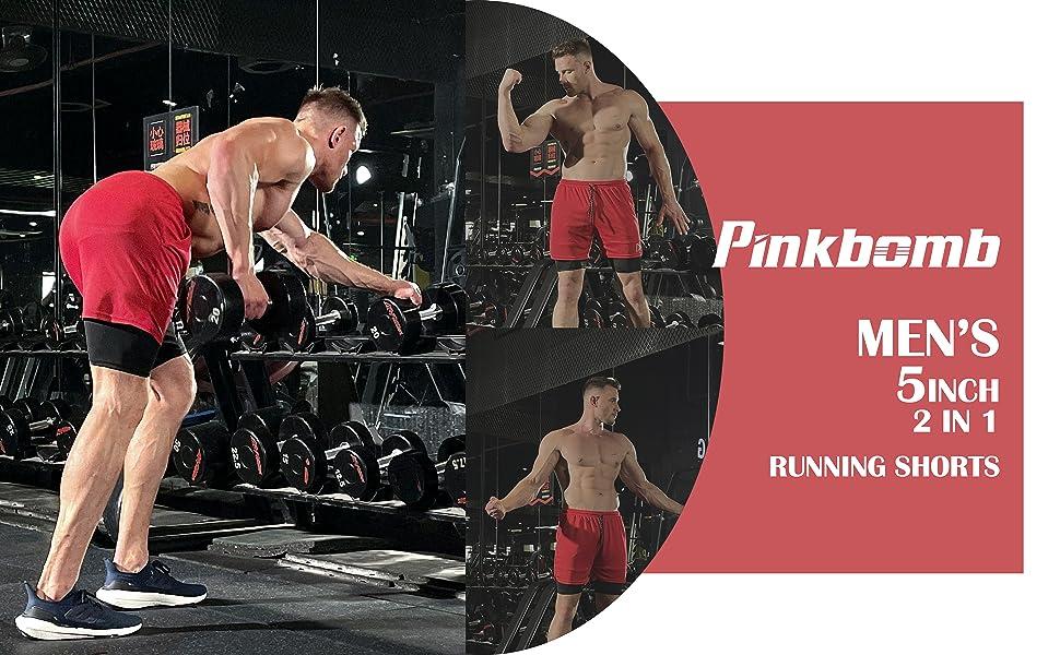 Pinkbomb 2 in 1 Running Shorts
