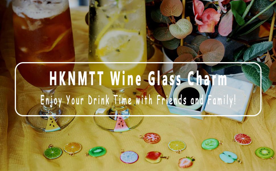 HKNMTT Wine Glass Charm
