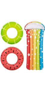 Inflatable Fruit Pool Tubes (3 Pack)