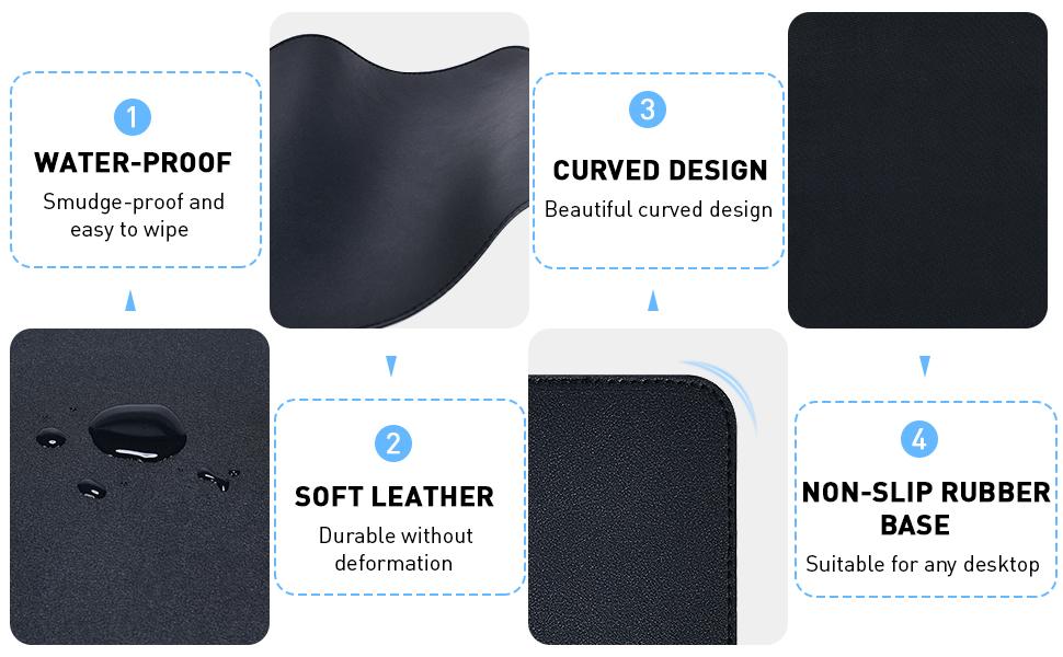 Advantages of non-slip leather mouse pad