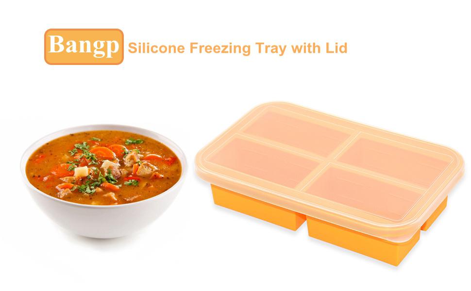 silicone freezing tray