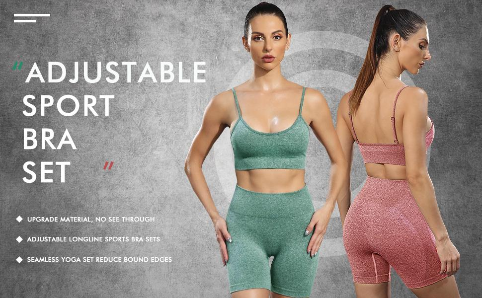 Seamless summer outfits matching sets women clothing