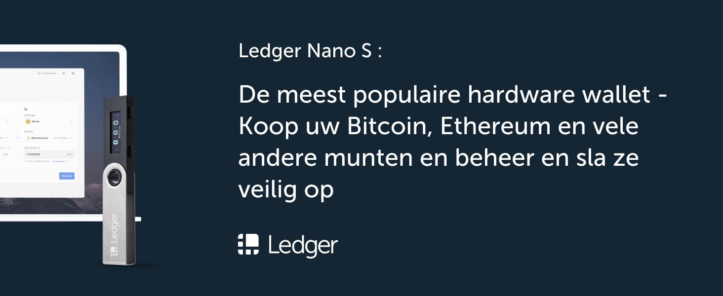 Ledger Nano S - De meest populaire hardware wallet