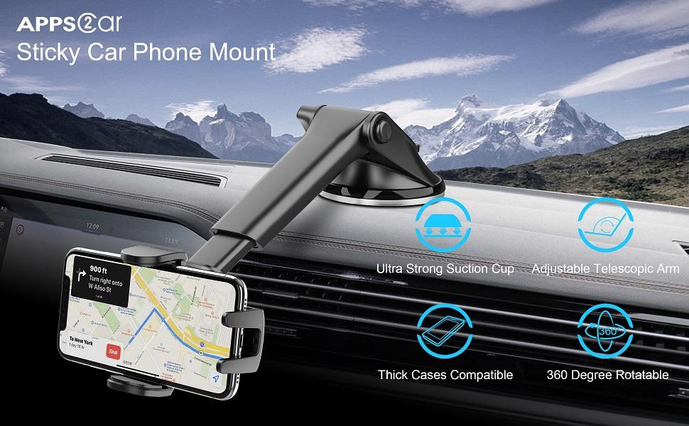 Sticky Suction Cup Phone Holder