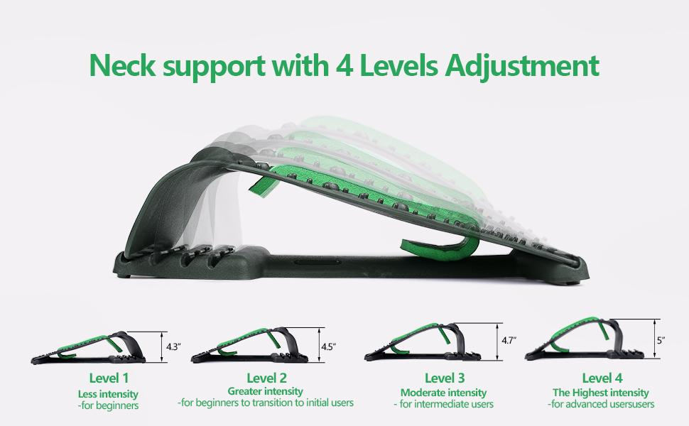 Neck support with 4 Levels Adjustment