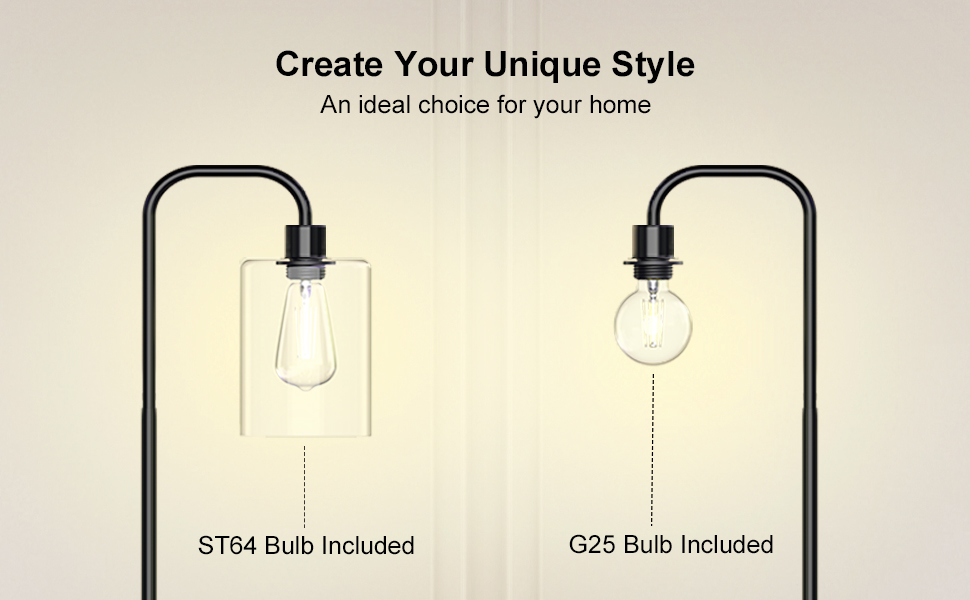 DIY your own style with 2 different bulbs