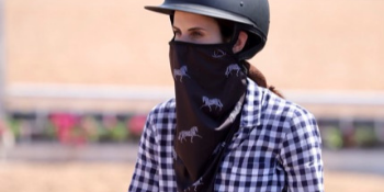 V Neck Gaiter with Ear Loops and Nose Clip