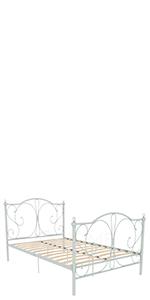 Vida Designs Barcelona Petit lit double en métal, blanc