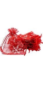 100 Pcs 9 x 12cm Organza gift bag (red)