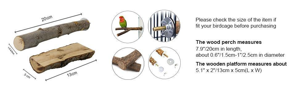 Please check the size of the item if fit your birdcage before purchasing