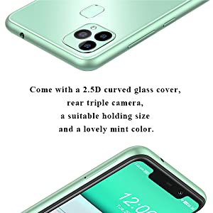 2.5D curved glass cover
