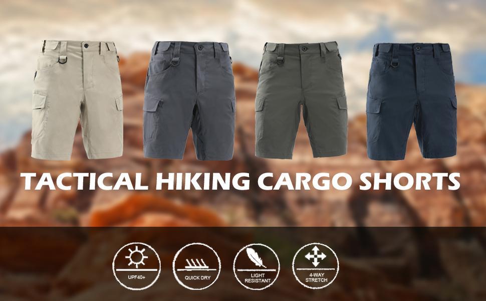 tactical hiking cargo shorts