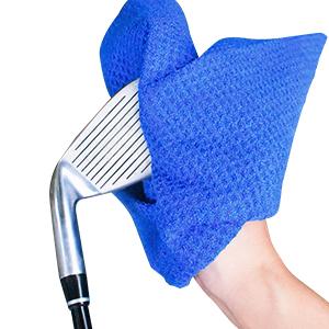 waffle pattern golf towel