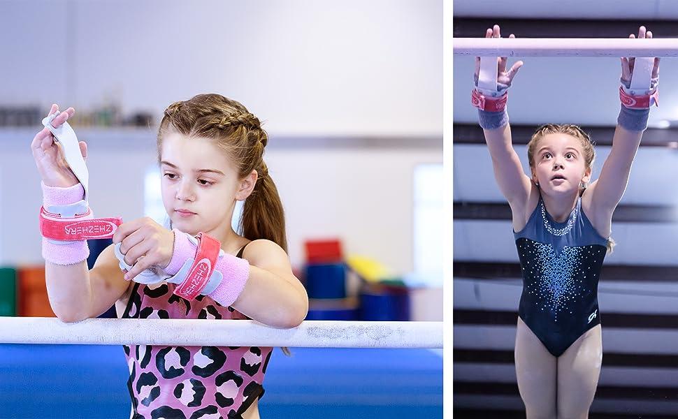 Grips for gymnastics girls