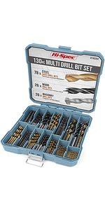 Multi SAE Drill Bit Set